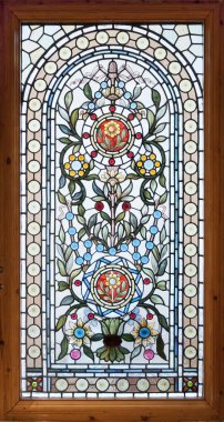 Stained lead window