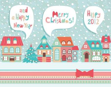 Funny Christmas postcard.