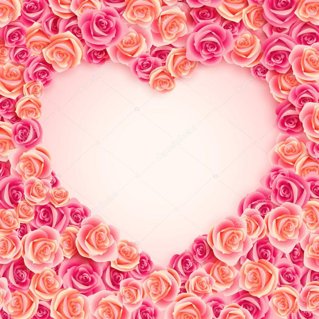 Valentines Day vintage roses