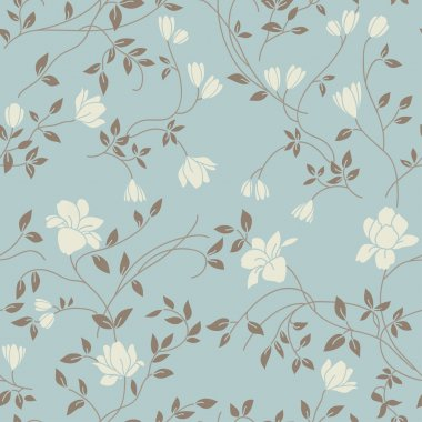 Light floral vintage seamless pattern for retro wallpapers clip art vector