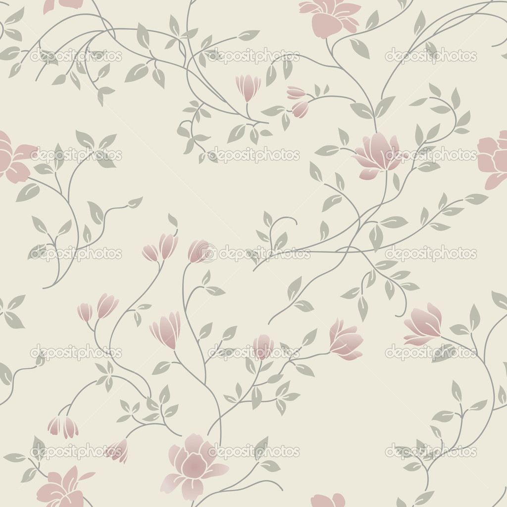 Light Floral Vintage Seamless Pattern For Retro Wallpapers Stock