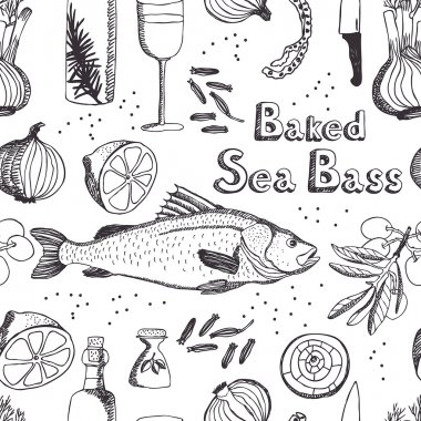 Baked Sea Bass background