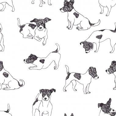 Jack Russell Terrier pattern