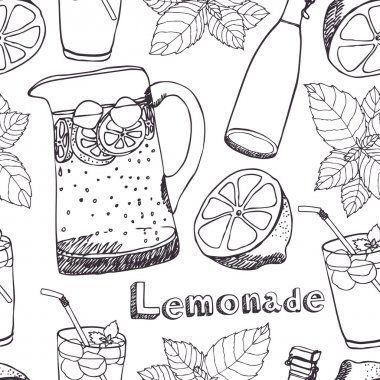 Lemonade seamless pattern