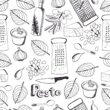 Pesto seamless pattern
