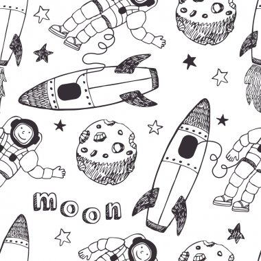 Rockets and astronauts pattern