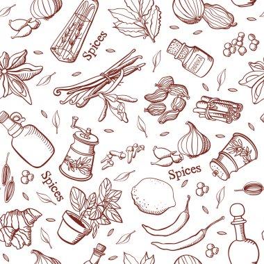 Spices kitchen background