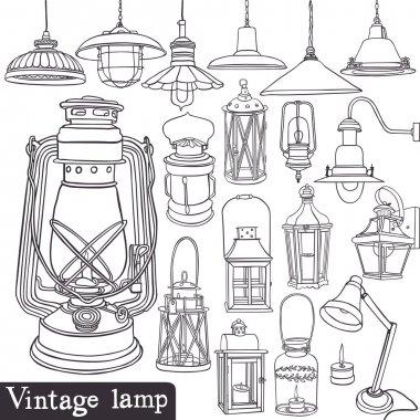 Vintage lamp set