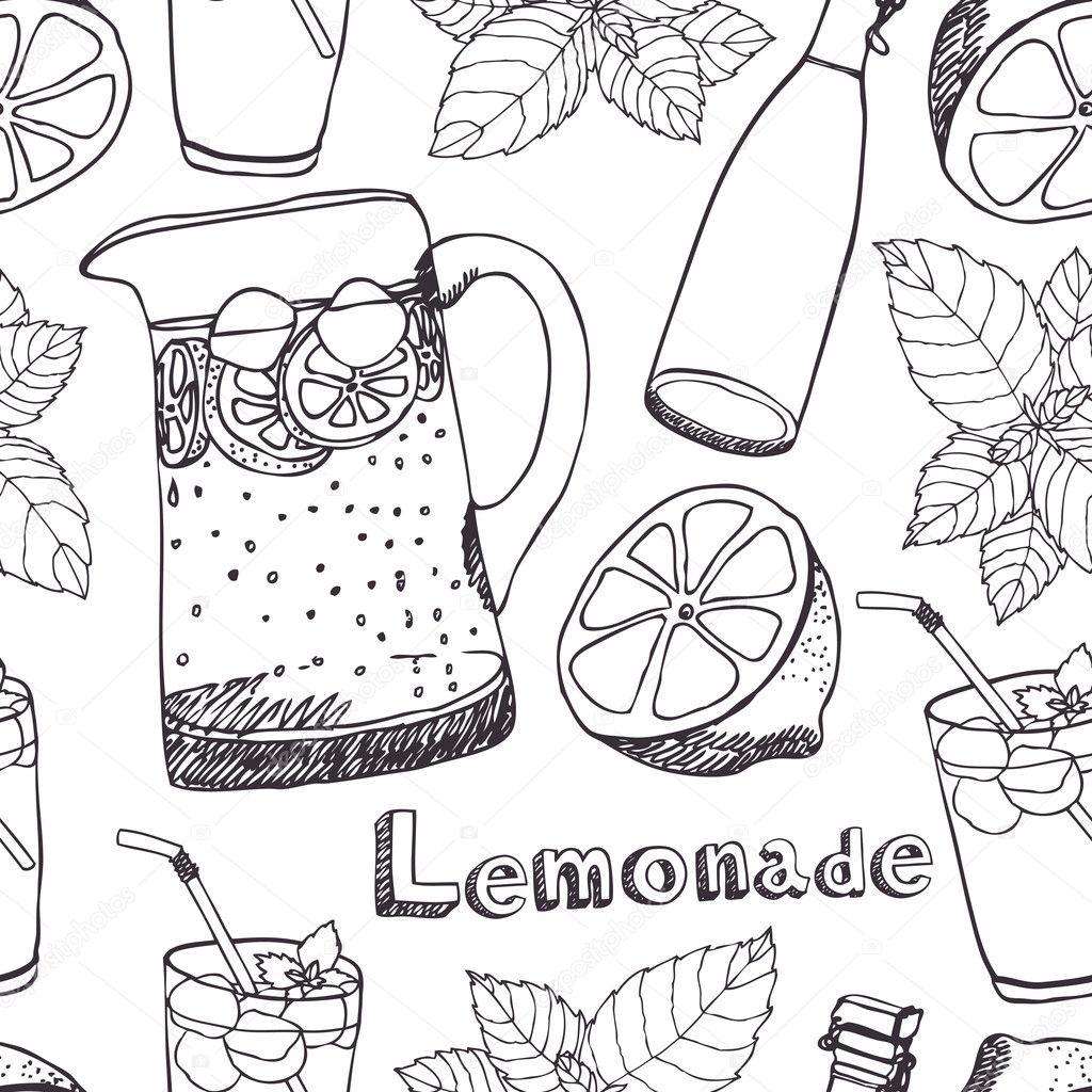 patrón sin costuras limonada — Vector de stock © Nenilkime #10662732