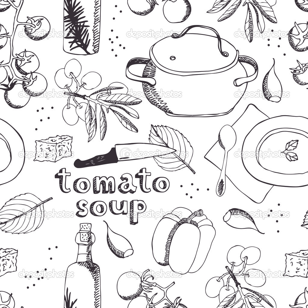 Tomato soup background