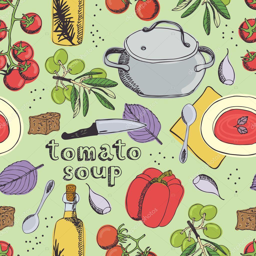 Tomato soup pattern