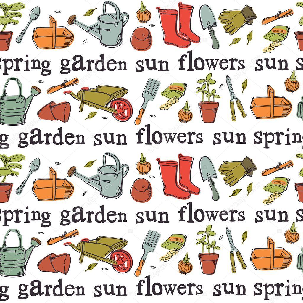 Vintage spring garden background