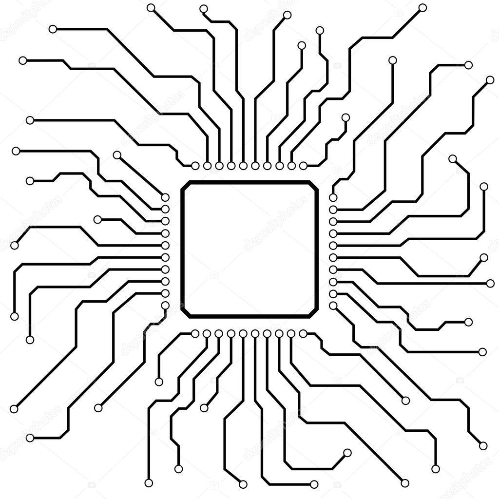 Hi-Tech Circuit Board — Stock Vector © unkreatives #9930370