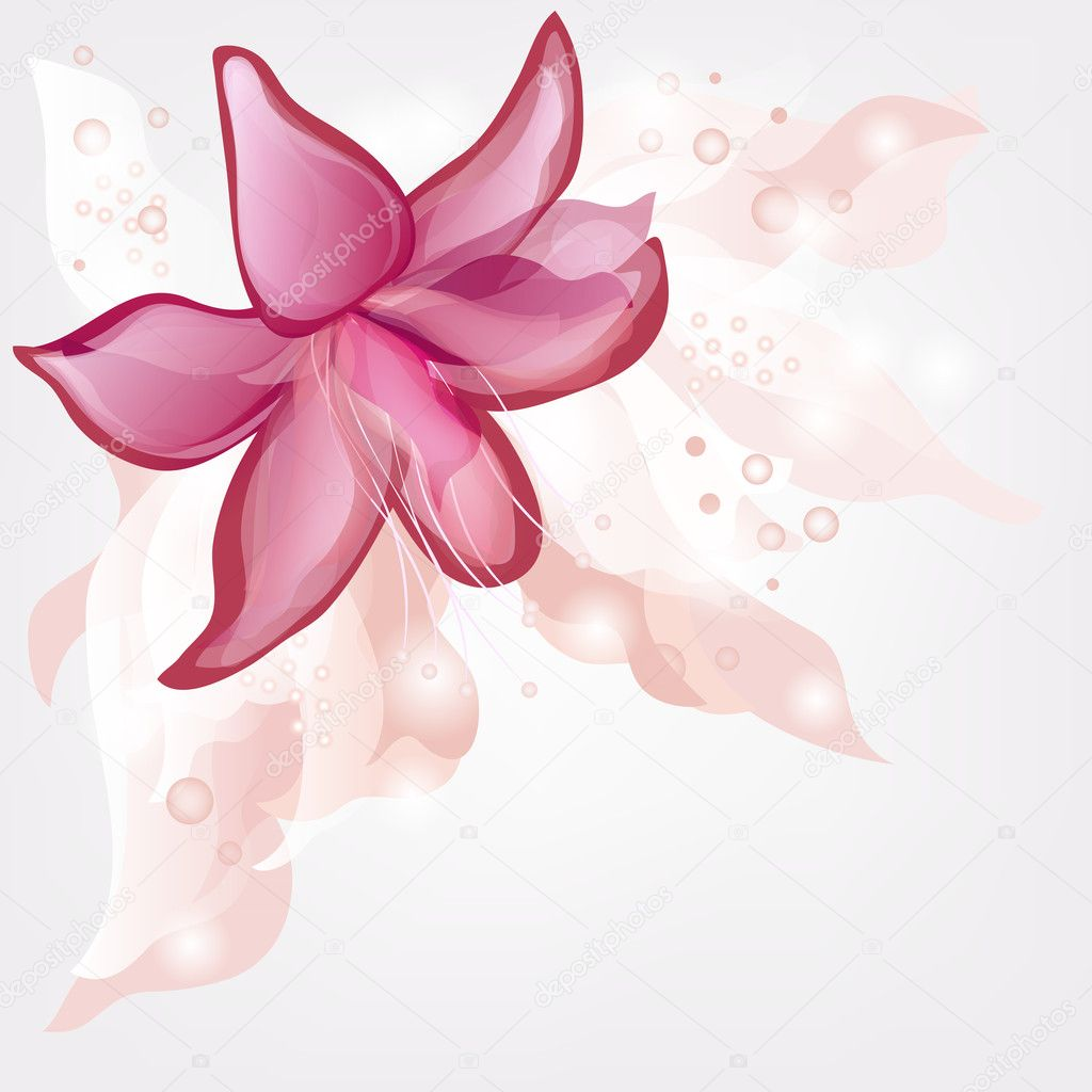 Romantic backgound with abstract lily and space for text