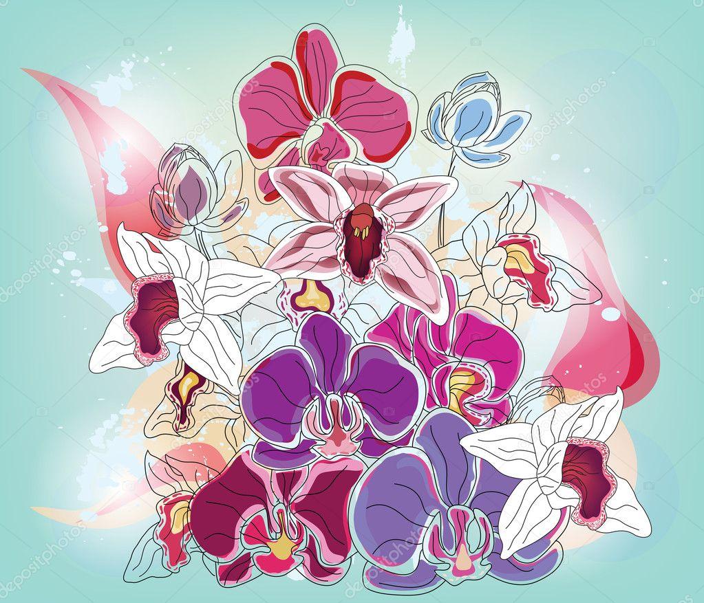 Orchids artistic bouquet
