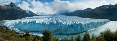 Perito Moreno glacier, El Calafate, patagonia, Argentina. Panorama. stock vector