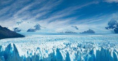 Perito Moreno glacier, patagonia, Argentina. Copy space. stock vector