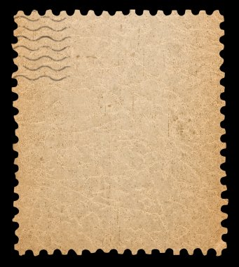 Blank postage stamp.