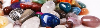 Colored natural stones