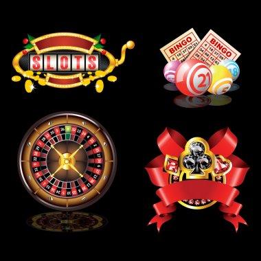 Set of casino`s items
