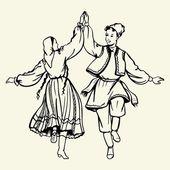 Fotografie taneční pár v tradičních krojích