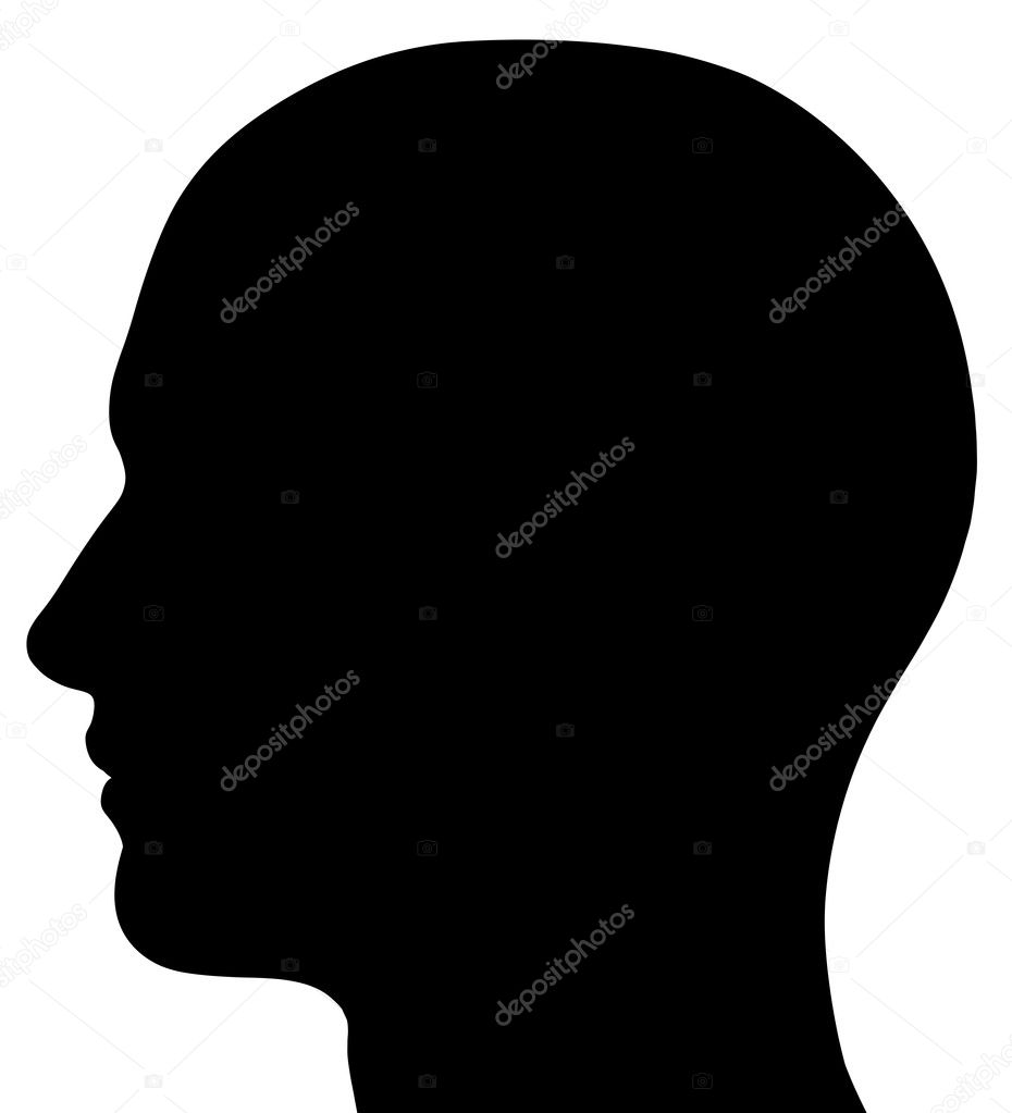Male Head Silhouette