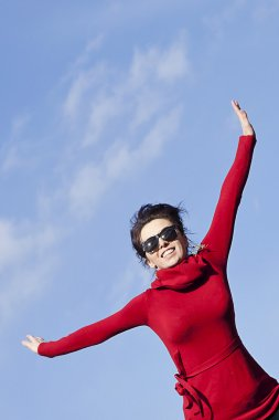 Be active stay healthy -happy woman