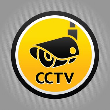 Surveillance camera warning sign