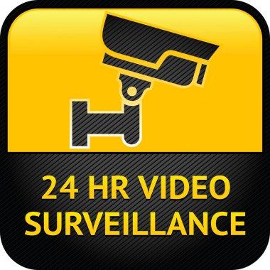 Video surveillance sign, cctv label