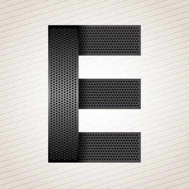 Letter metal ribbon - E