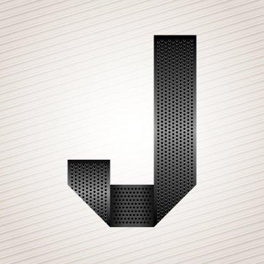 Letter metal ribbon - J