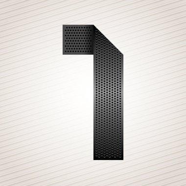 Number metal ribbon - 1 - one