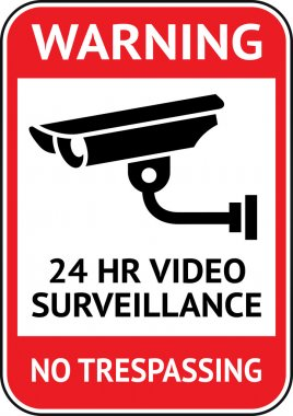 Video surveillance, cctv label