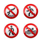 Set verbotene Schilder - sport
