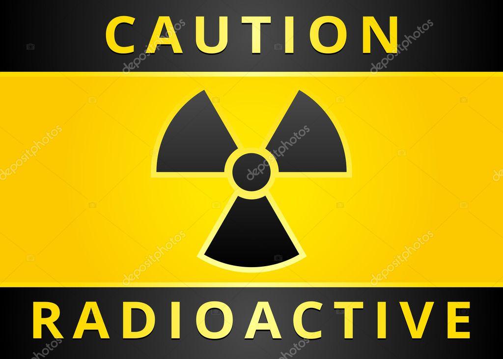 Label Caution Sign Radiation Hazard Symbol Stock Vector Ecelop