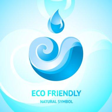 Blue water natural symbol