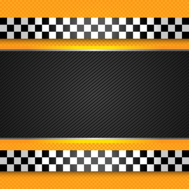 Taxi cab blank template
