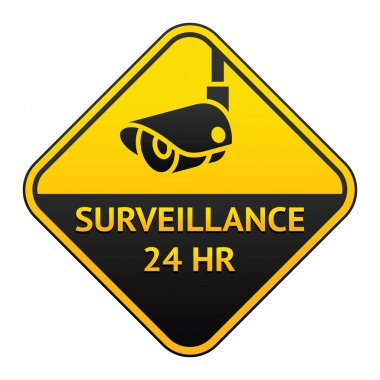 CCTV pictogram, video surveillance sticker