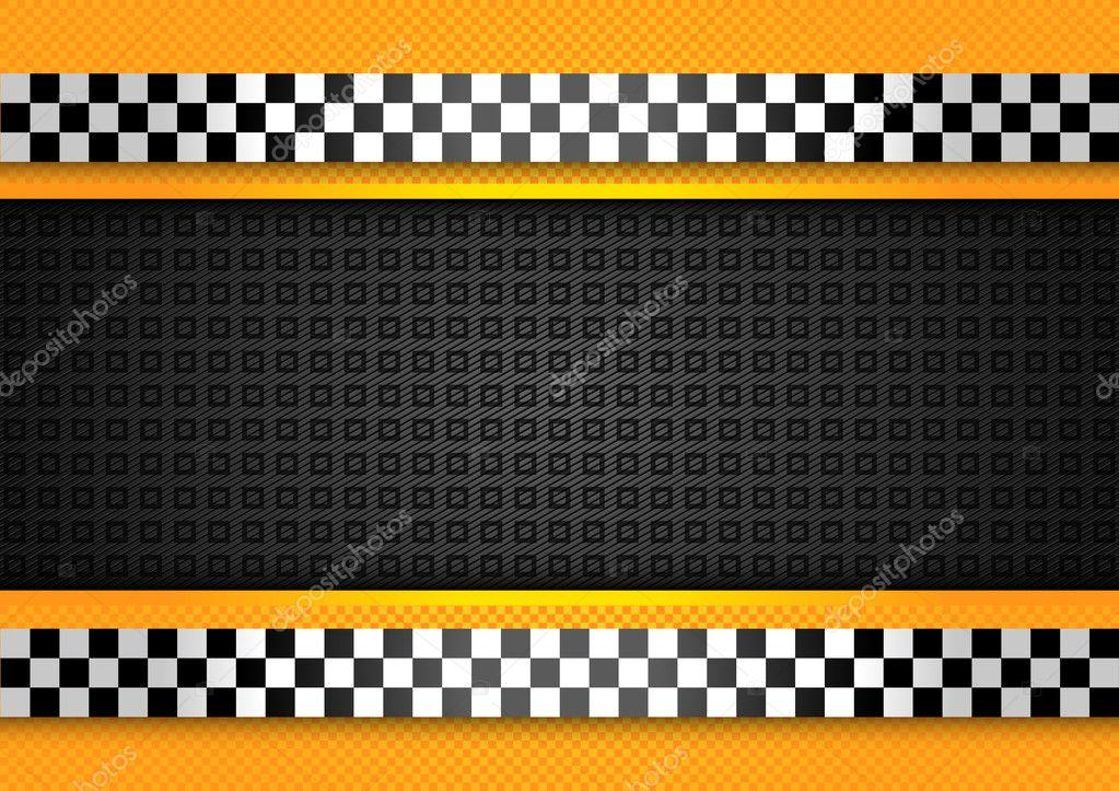 taxi taxi fondo, carreras de plantilla en blanco — Archivo Imágenes ...