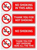 Etiketten legen keine Raucher-Aufkleber