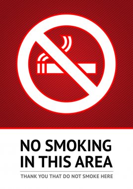Label No smoking sticker
