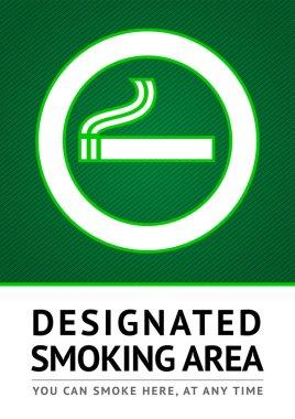 Label smoking place sticker