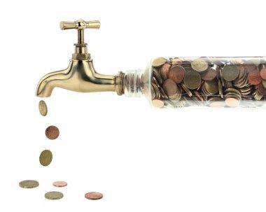 para sikke altın musluk düşmek
