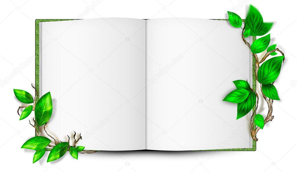 Ilustración Del Libro Simple En Blanco Con Hojas