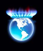Fényképek gáztűzhely láng, korona, a Föld bolygó