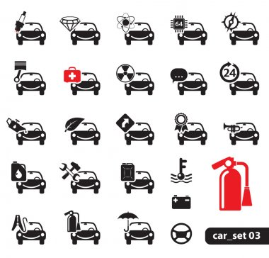 Car service icons, set