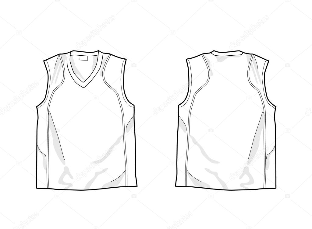 Sleeveless shirt stock vector nevada31 9078903 white sleeveless shirt template front and back vector by nevada31 pronofoot35fo Image collections
