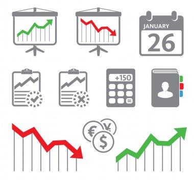 Economic icons, graphs