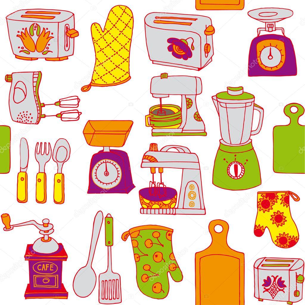 Utensilios de cocina vector de stock lavandaart 9516510 for Utensilios de cocina fondo