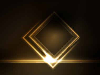 Golden glowing frame for your text